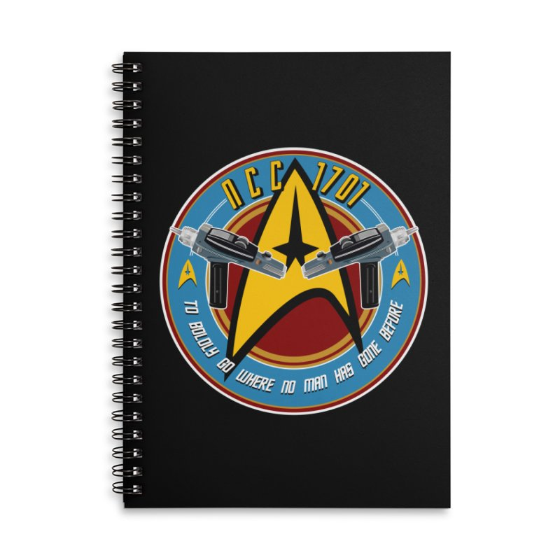BOLDLY GO... Accessories Lined Spiral Notebook by karmadesigner's Tee Shirt Shop