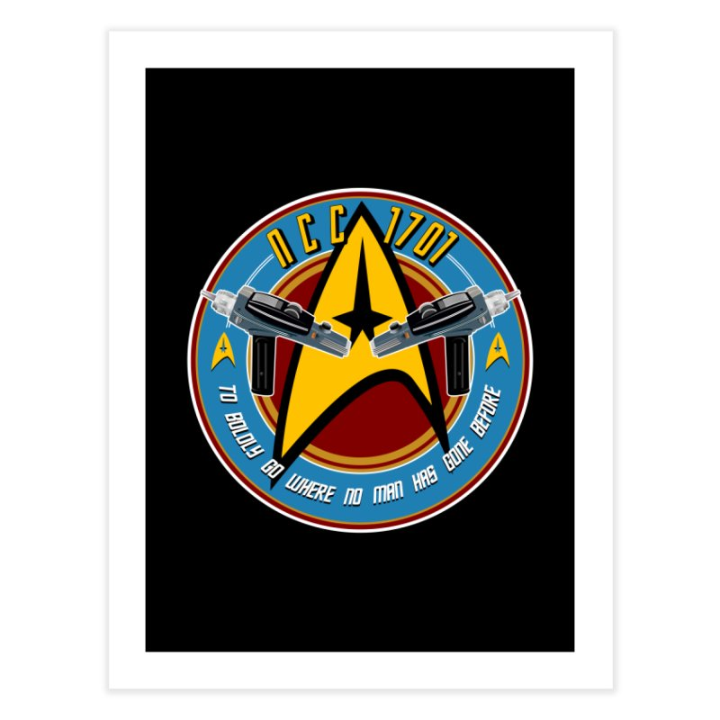 BOLDLY GO... Home Fine Art Print by karmadesigner's Tee Shirt Shop