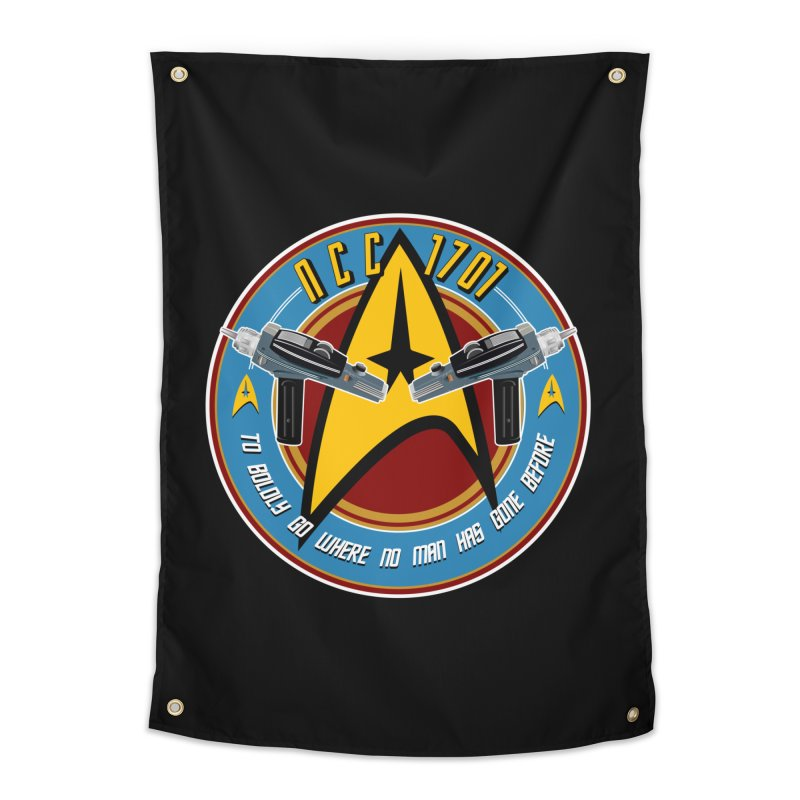 BOLDLY GO... Home Tapestry by karmadesigner's Tee Shirt Shop