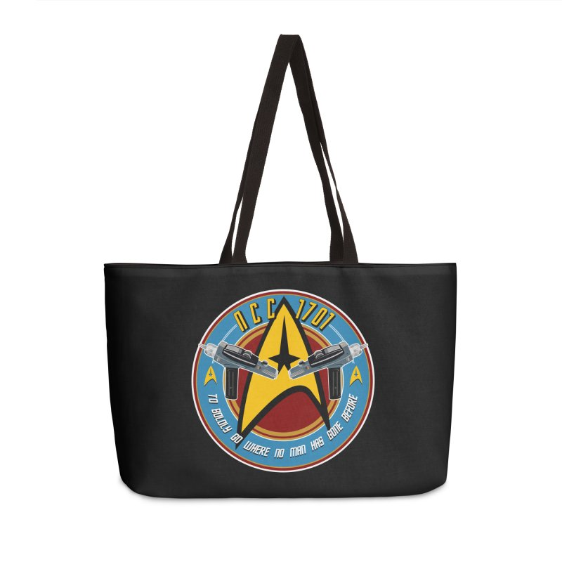 BOLDLY GO... Accessories Weekender Bag Bag by karmadesigner's Tee Shirt Shop