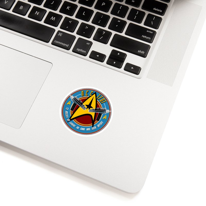 BOLDLY GO... Accessories Sticker by karmadesigner's Tee Shirt Shop