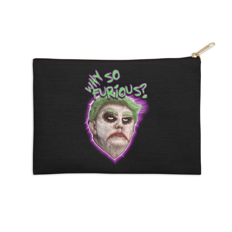 WHY SO FURIOUS  Accessories Zip Pouch by karmadesigner's Tee Shirt Shop