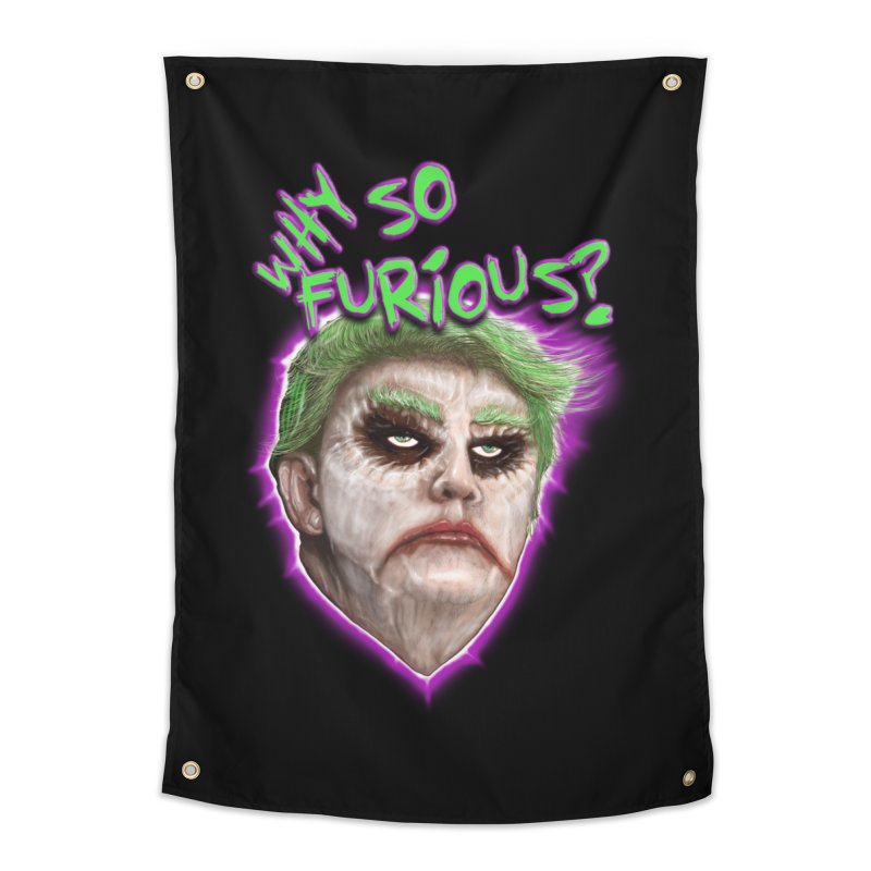 WHY SO FURIOUS  Home Tapestry by karmadesigner's Tee Shirt Shop