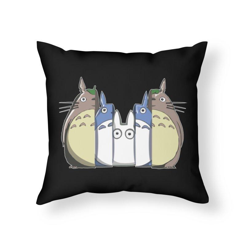 TOTORO MATRIOSKA  Home Throw Pillow by karmadesigner's Tee Shirt Shop