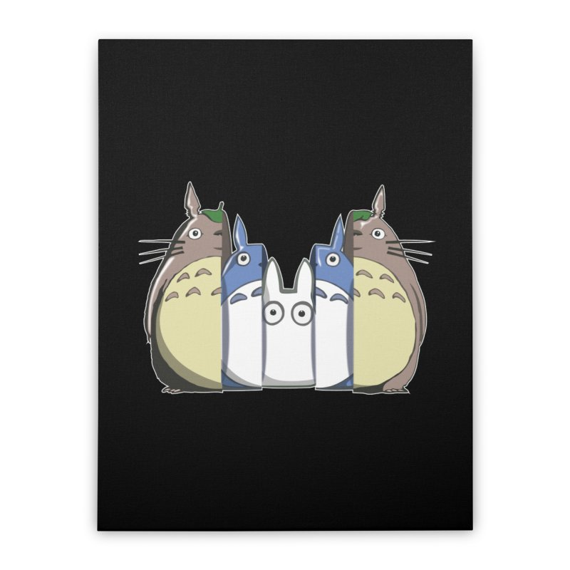 TOTORO MATRIOSKA  Home Stretched Canvas by karmadesigner's Tee Shirt Shop