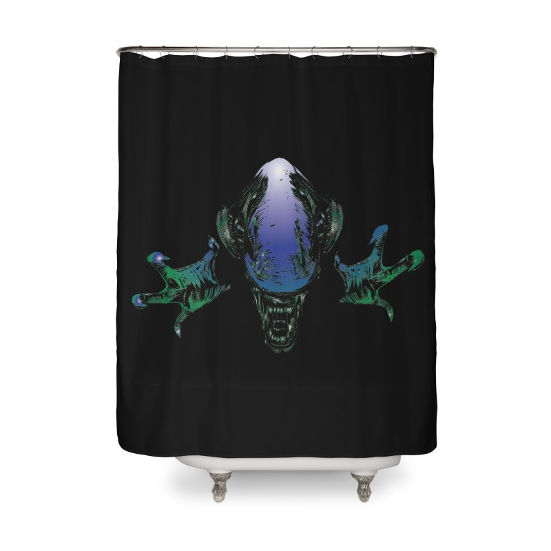 ALIEN  Home Shower Curtain by karmadesigner's Tee Shirt Shop
