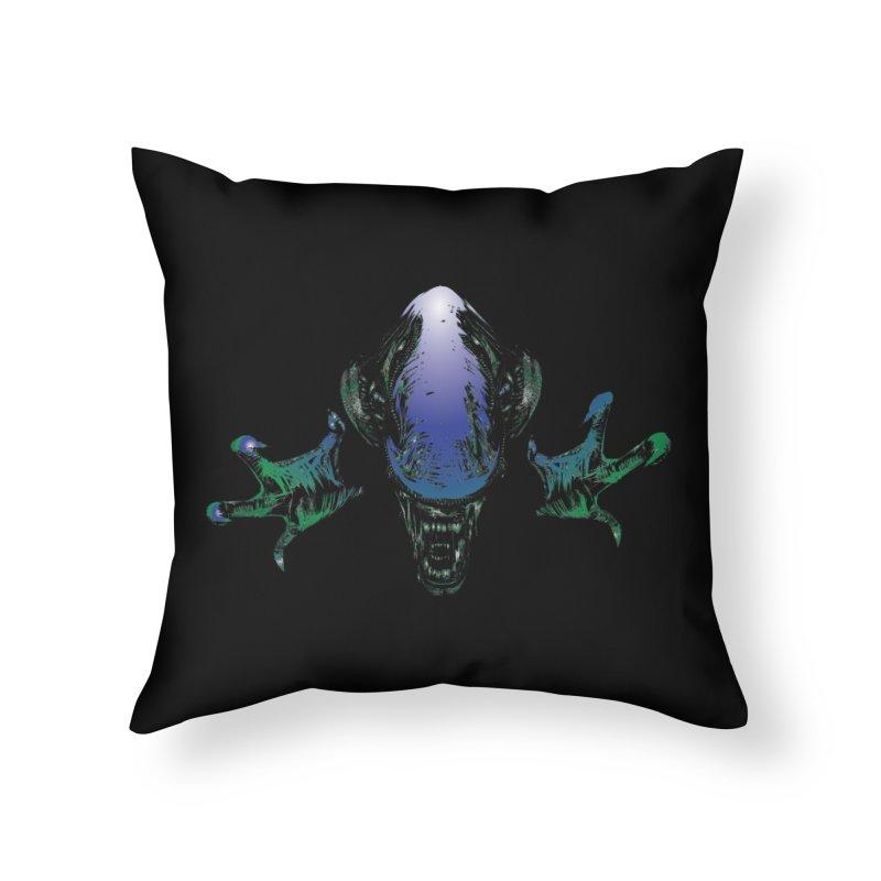 ALIEN  Home Throw Pillow by karmadesigner's Tee Shirt Shop