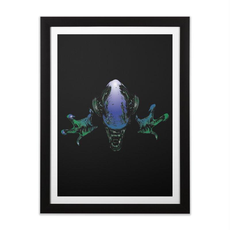ALIEN  Home Framed Fine Art Print by karmadesigner's Tee Shirt Shop