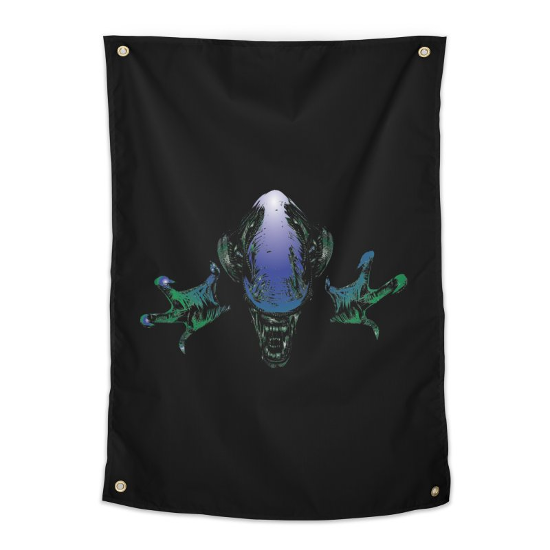 ALIEN  Home Tapestry by karmadesigner's Tee Shirt Shop