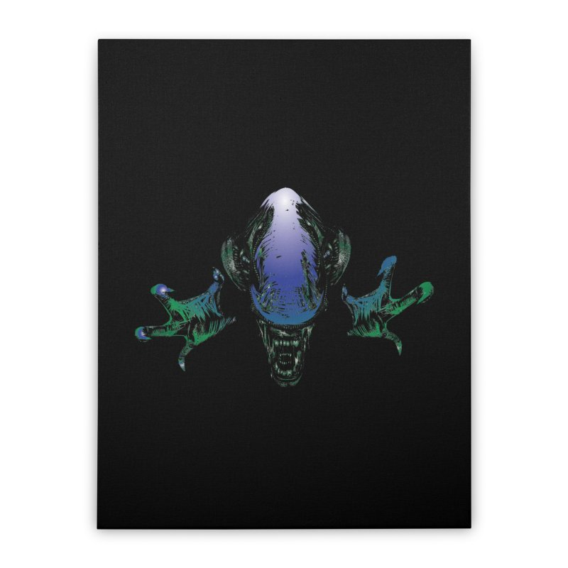ALIEN  Home Stretched Canvas by karmadesigner's Tee Shirt Shop