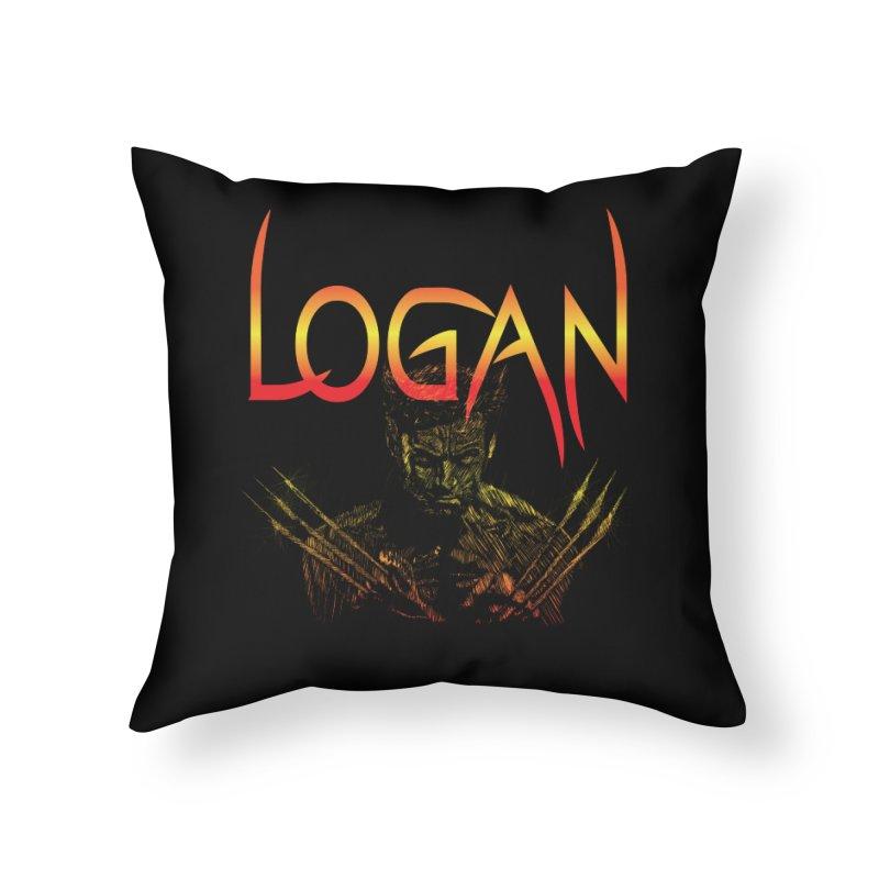 LOGAN Home Throw Pillow by karmadesigner's Tee Shirt Shop