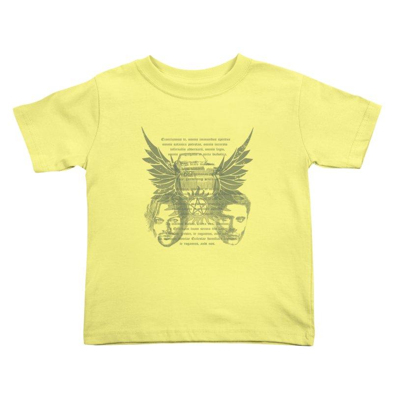 SUPERNATURAL BROTHERS  Kids Toddler T-Shirt by karmadesigner's Tee Shirt Shop