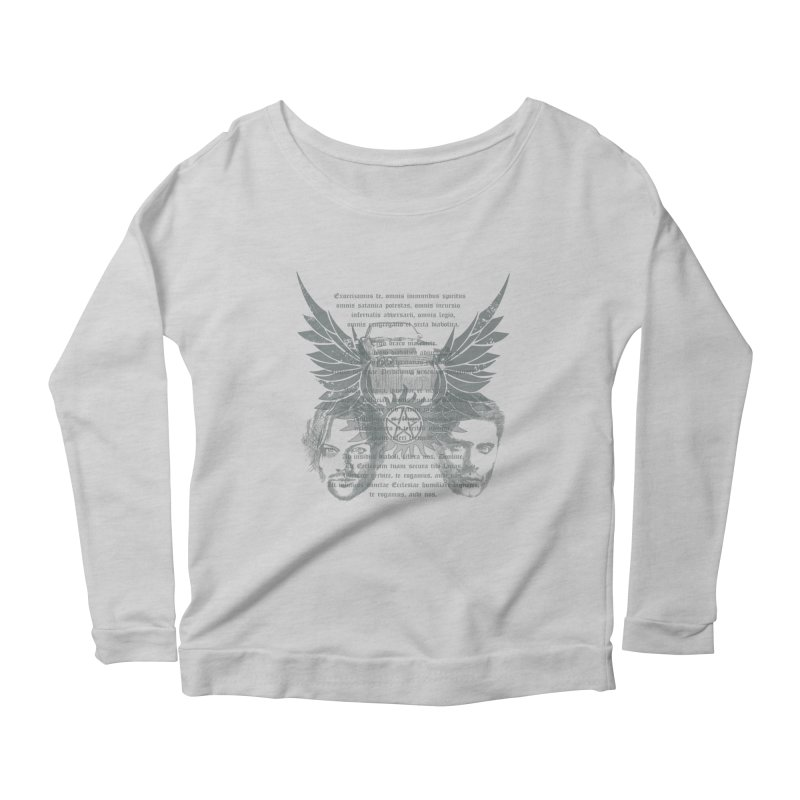 SUPERNATURAL BROTHERS  Women's Longsleeve Scoopneck  by karmadesigner's Tee Shirt Shop