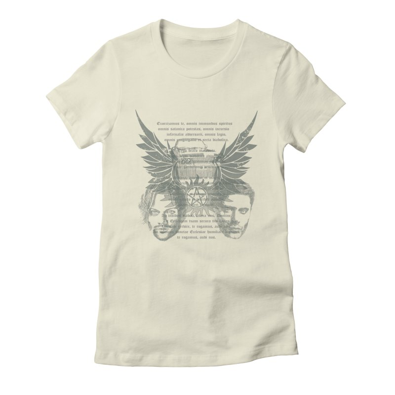 SUPERNATURAL BROTHERS  Women's Fitted T-Shirt by karmadesigner's Tee Shirt Shop