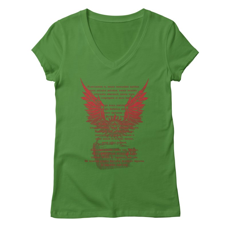 CHEVROLET IMPALA 67 Women's V-Neck by karmadesigner's Tee Shirt Shop