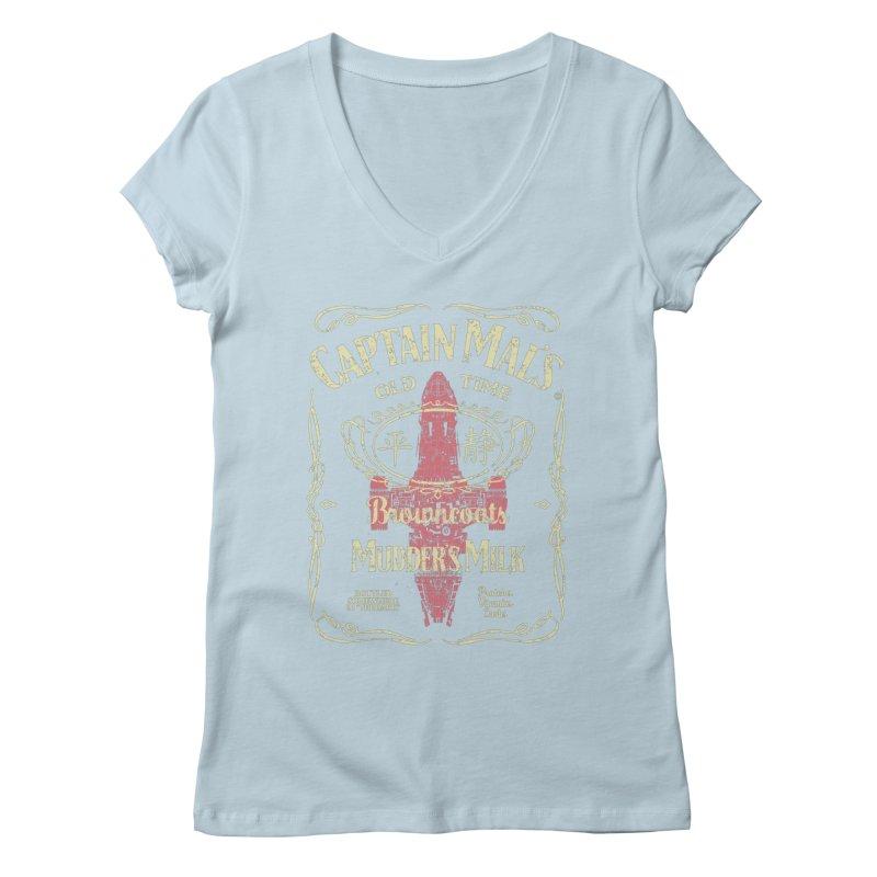 CAPTAIN MAL'S MUDDER'S MILK Women's V-Neck by karmadesigner's Tee Shirt Shop