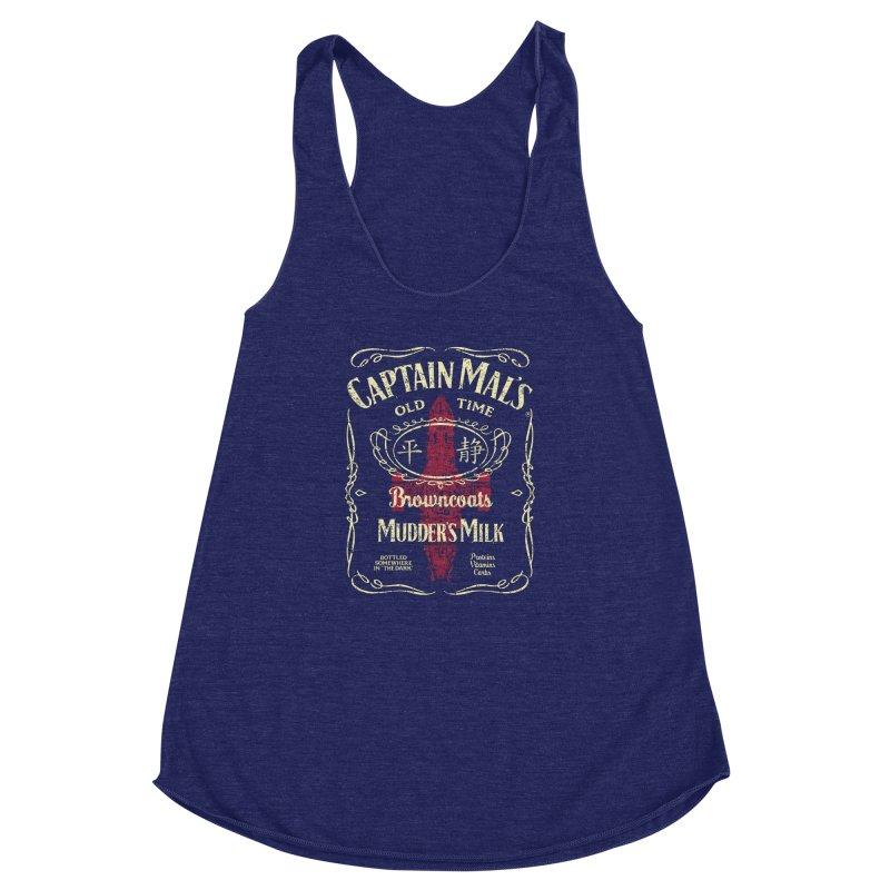 CAPTAIN MAL'S MUDDER'S MILK Women's Racerback Triblend Tank by karmadesigner's Tee Shirt Shop