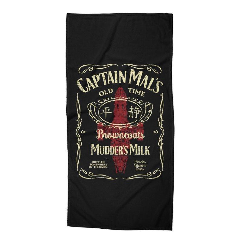 CAPTAIN MAL'S MUDDER'S MILK Accessories Beach Towel by karmadesigner's Tee Shirt Shop