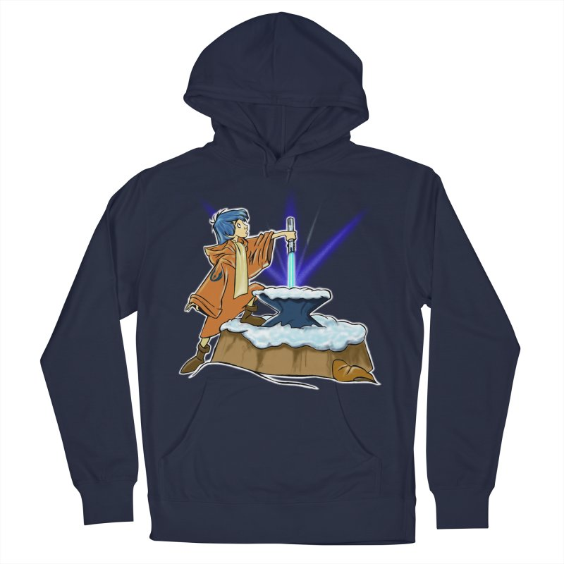 THE LIGHTSABER IN THE STONE  Men's Pullover Hoody by karmadesigner's Tee Shirt Shop