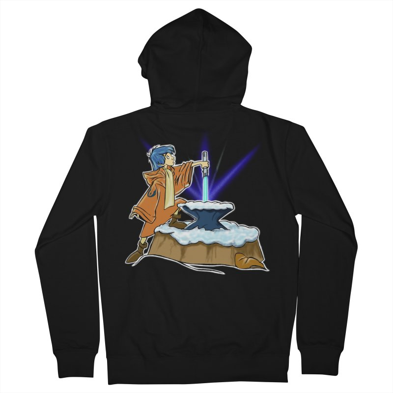THE LIGHTSABER IN THE STONE  Men's Zip-Up Hoody by karmadesigner's Tee Shirt Shop