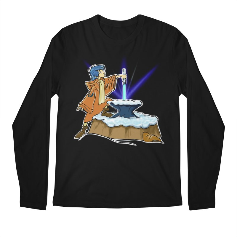 THE LIGHTSABER IN THE STONE  Men's Longsleeve T-Shirt by karmadesigner's Tee Shirt Shop
