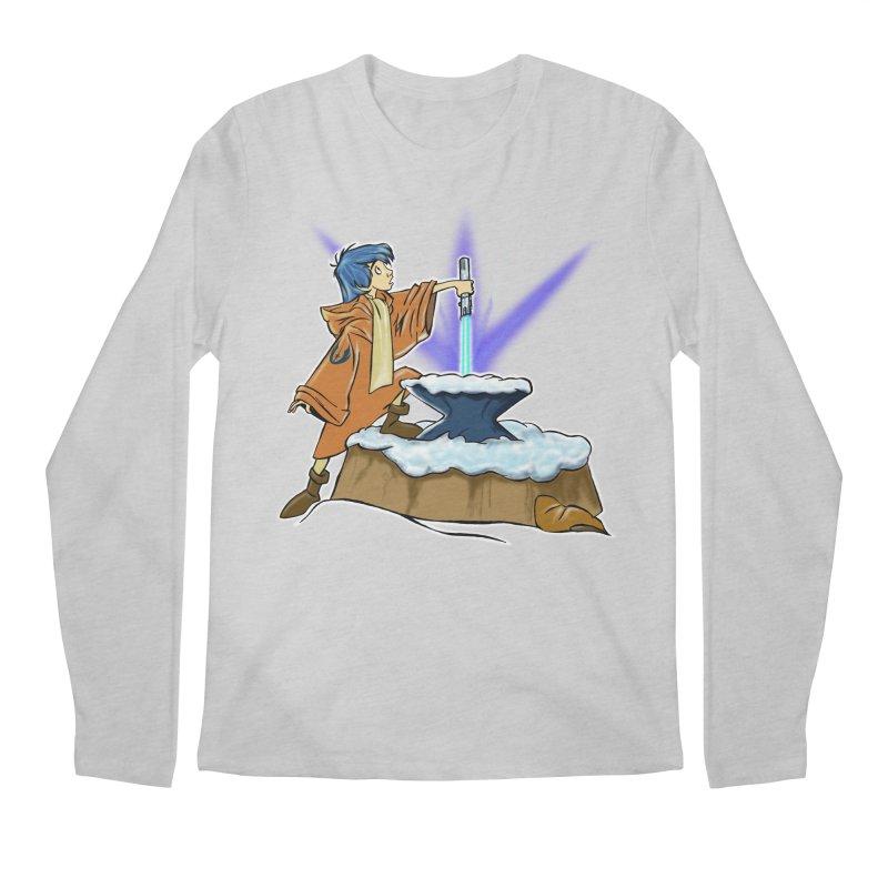 THE LIGHTSABER IN THE STONE  Men's Longsleeve T-Shirt by karmadesigner's Tee Shirt Shop
