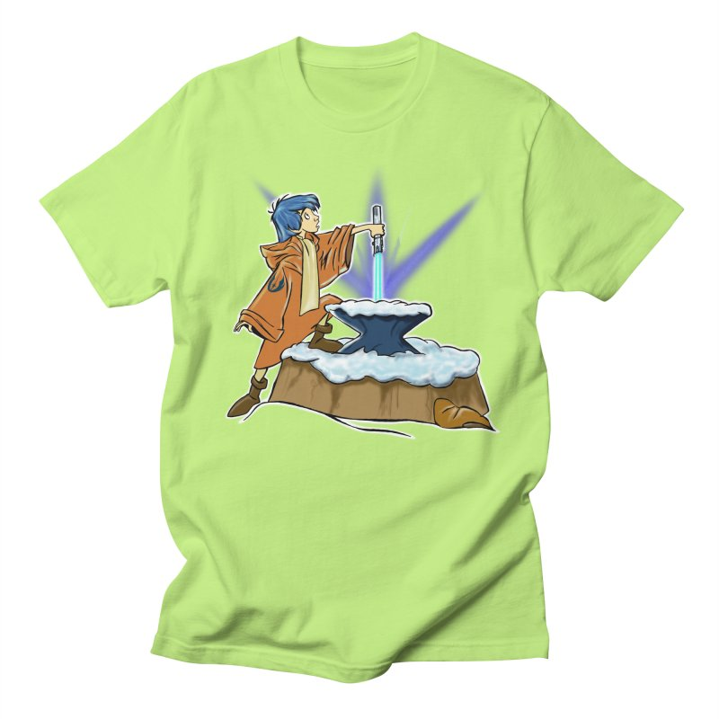 THE LIGHTSABER IN THE STONE  Men's T-Shirt by karmadesigner's Tee Shirt Shop
