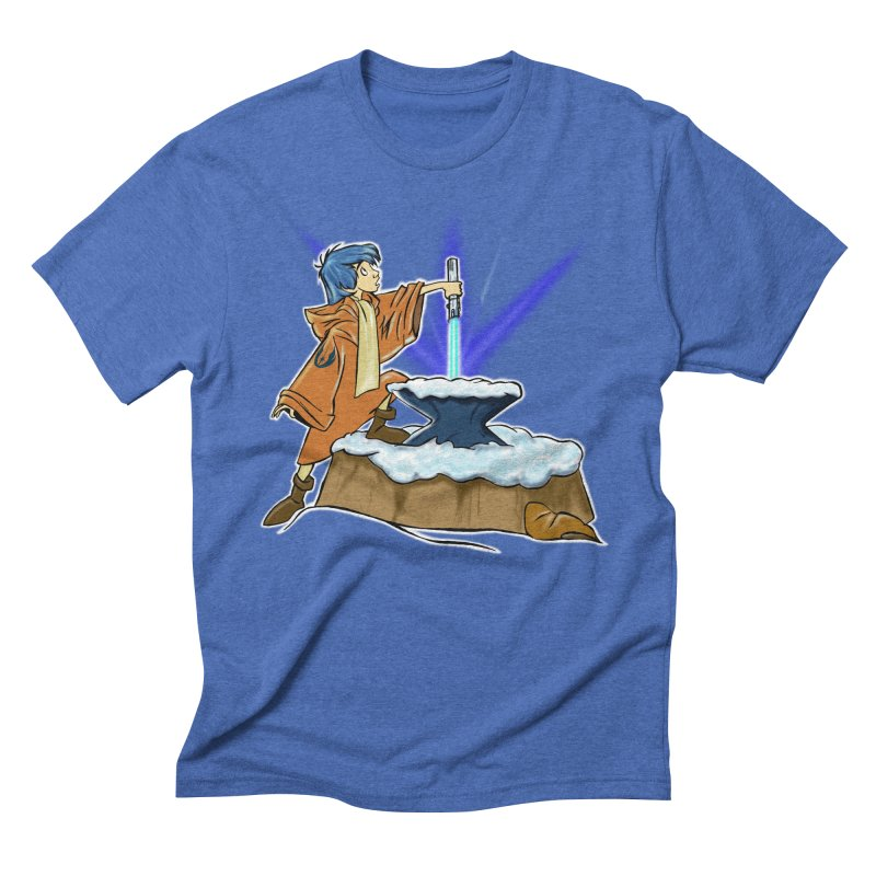 THE LIGHTSABER IN THE STONE  Men's Triblend T-Shirt by karmadesigner's Tee Shirt Shop