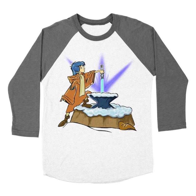 THE LIGHTSABER IN THE STONE  Men's Baseball Triblend T-Shirt by karmadesigner's Tee Shirt Shop
