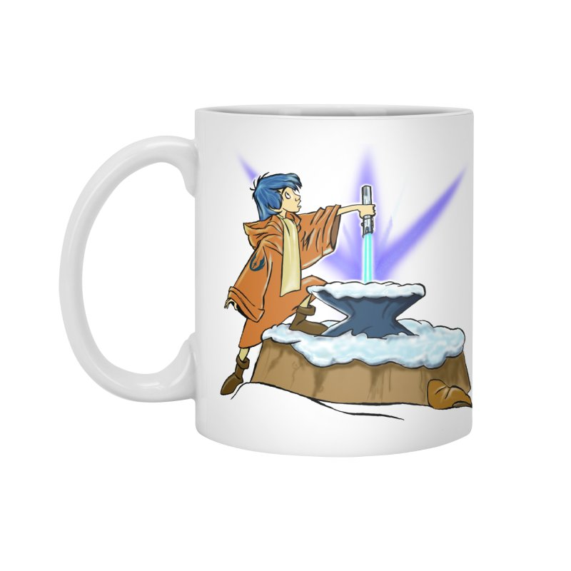 THE LIGHTSABER IN THE STONE  Accessories Mug by karmadesigner's Tee Shirt Shop