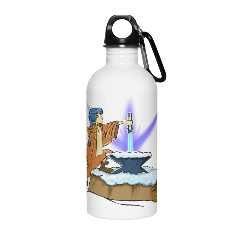THE LIGHTSABER IN THE STONE  Accessories Water Bottle by karmadesigner's Tee Shirt Shop