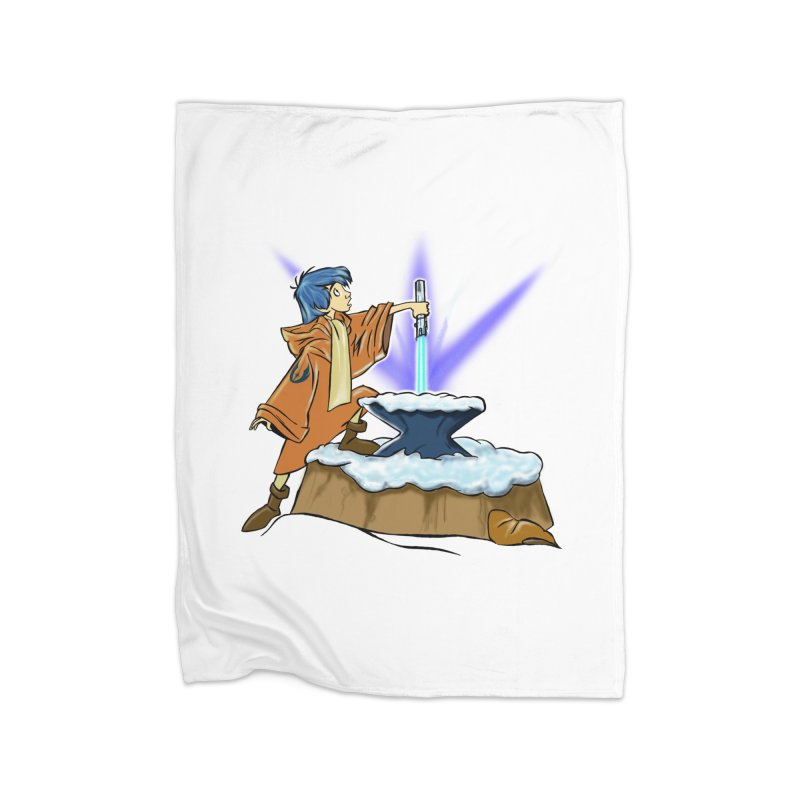 THE LIGHTSABER IN THE STONE  Home Blanket by karmadesigner's Tee Shirt Shop