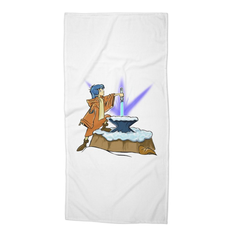 THE LIGHTSABER IN THE STONE  Accessories Beach Towel by karmadesigner's Tee Shirt Shop