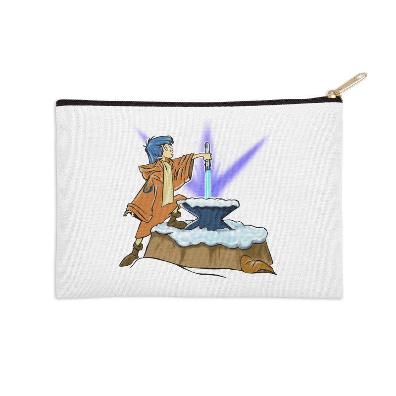 THE LIGHTSABER IN THE STONE  Accessories Zip Pouch by karmadesigner's Tee Shirt Shop