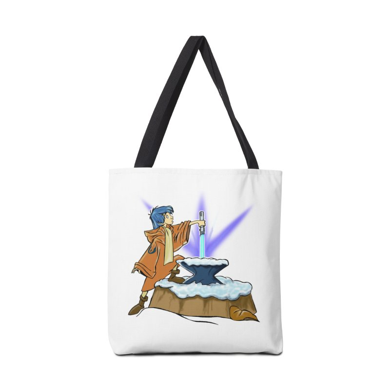 THE LIGHTSABER IN THE STONE  Accessories Bag by karmadesigner's Tee Shirt Shop