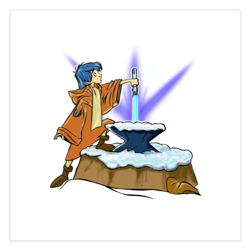 THE LIGHTSABER IN THE STONE  Home Fine Art Print by karmadesigner's Tee Shirt Shop