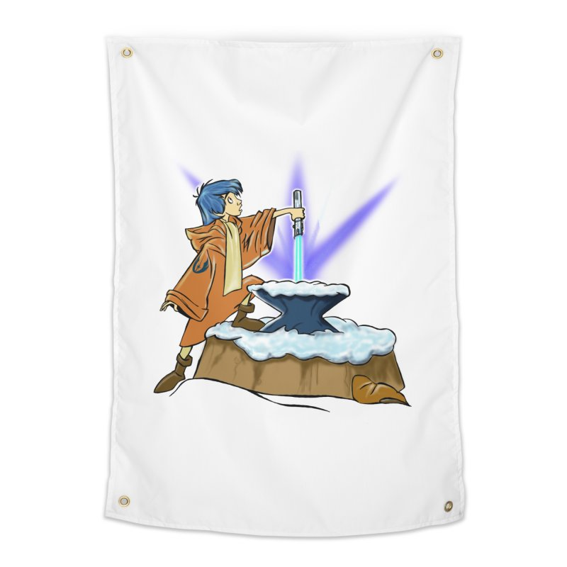 THE LIGHTSABER IN THE STONE  Home Tapestry by karmadesigner's Tee Shirt Shop