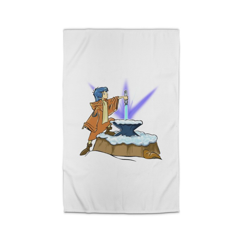 THE LIGHTSABER IN THE STONE  Home Rug by karmadesigner's Tee Shirt Shop