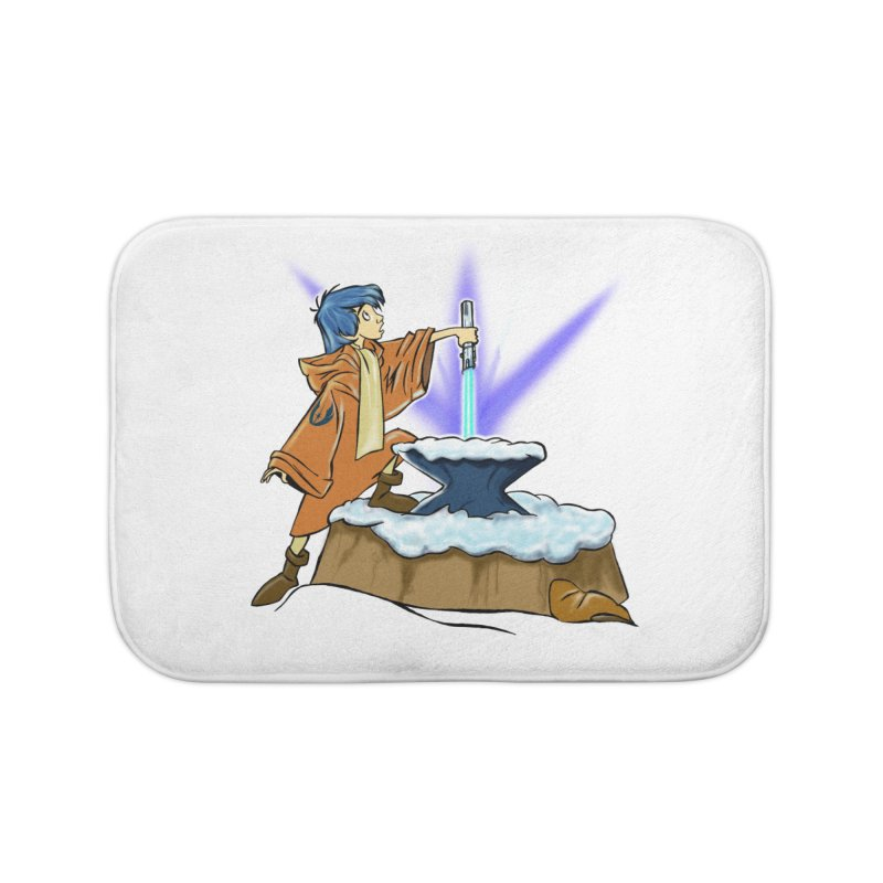 THE LIGHTSABER IN THE STONE  Home Bath Mat by karmadesigner's Tee Shirt Shop