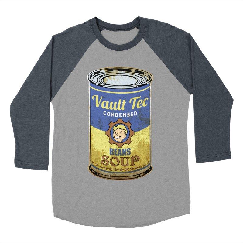 VAULT TEC BEANS SOUP  Women's Baseball Triblend T-Shirt by karmadesigner's Tee Shirt Shop
