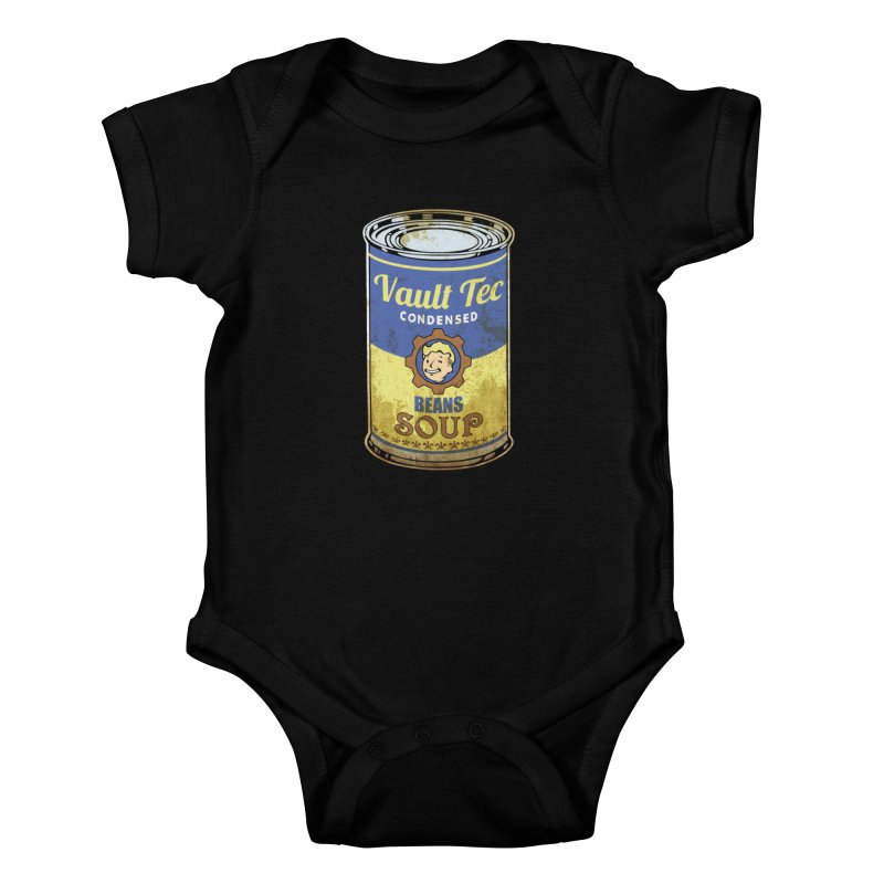 VAULT TEC BEANS SOUP  Kids Baby Bodysuit by karmadesigner's Tee Shirt Shop