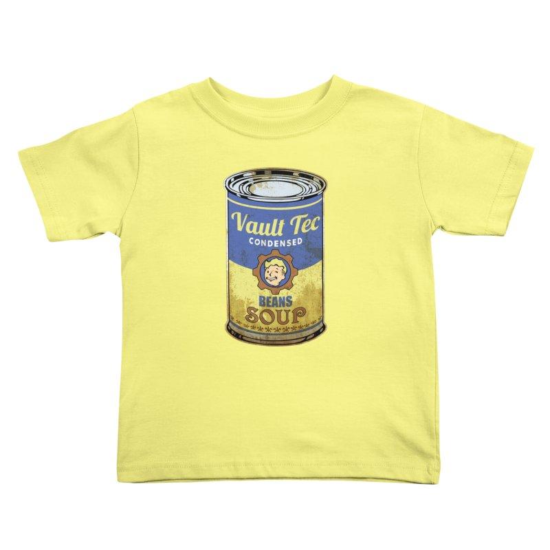 VAULT TEC BEANS SOUP  Kids Toddler T-Shirt by karmadesigner's Tee Shirt Shop