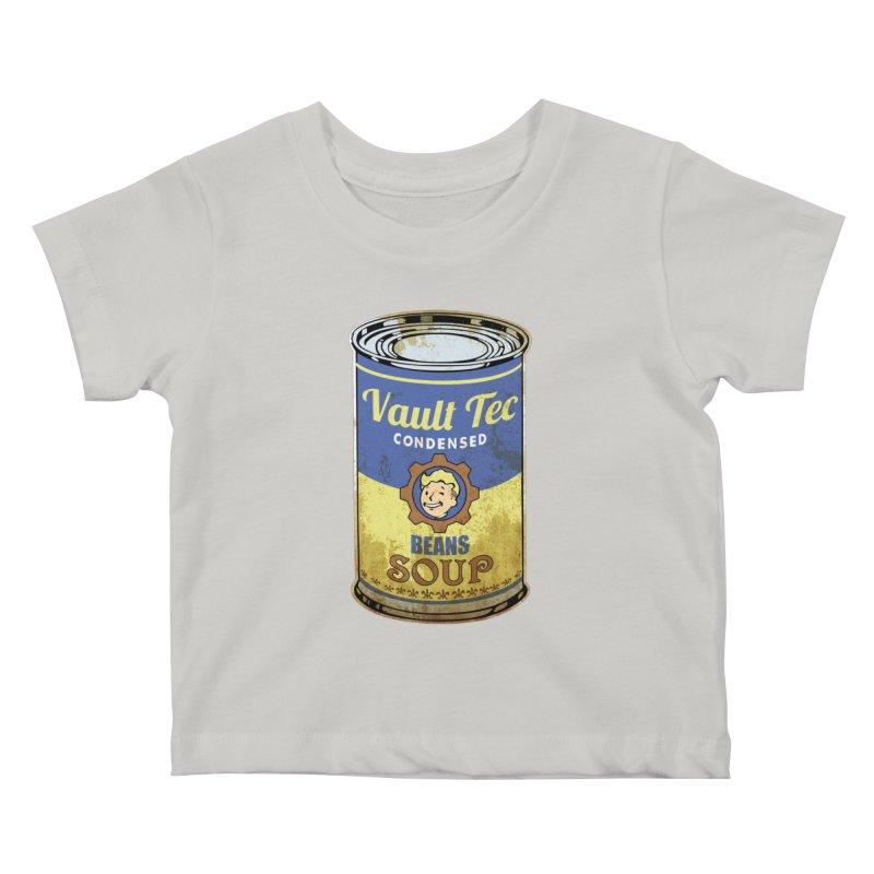 VAULT TEC BEANS SOUP  Kids Baby T-Shirt by karmadesigner's Tee Shirt Shop