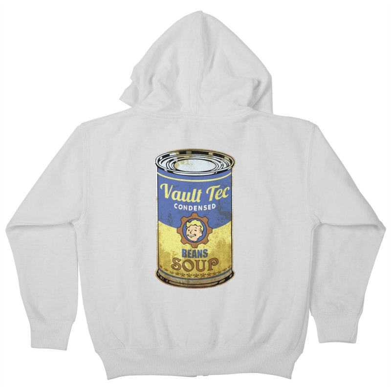 VAULT TEC BEANS SOUP  Kids Zip-Up Hoody by karmadesigner's Tee Shirt Shop