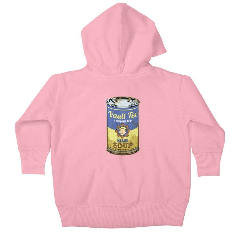 VAULT TEC BEANS SOUP  Kids Baby Zip-Up Hoody by karmadesigner's Tee Shirt Shop