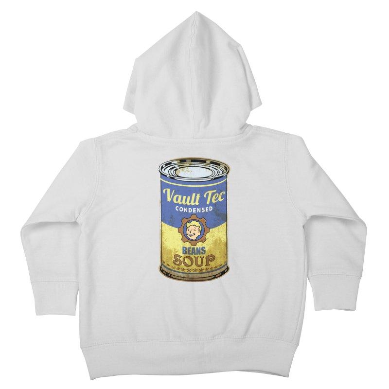 VAULT TEC BEANS SOUP  Kids Toddler Zip-Up Hoody by karmadesigner's Tee Shirt Shop