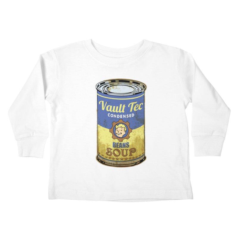 VAULT TEC BEANS SOUP  Kids Toddler Longsleeve T-Shirt by karmadesigner's Tee Shirt Shop