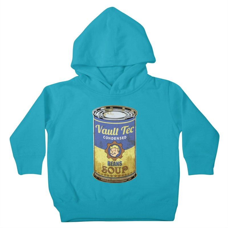 VAULT TEC BEANS SOUP  Kids Toddler Pullover Hoody by karmadesigner's Tee Shirt Shop