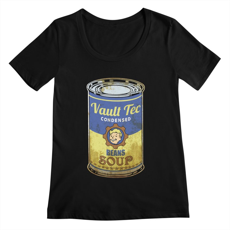 VAULT TEC BEANS SOUP  Women's Scoopneck by karmadesigner's Tee Shirt Shop