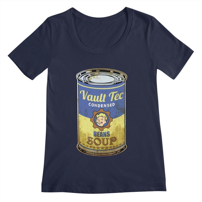VAULT TEC BEANS SOUP  Women's Scoopneck by karmadesigner's Tee Shirt Shop